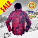 New RIDE Mens GATEWOOD Snowboard Ski Jacket Striped Grime - Size S