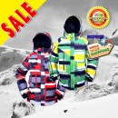 New RIDE Insulated Snowboard Ski Jacket for Men - Red Pattern