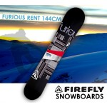 FIREFLY FURIOUS RENT SNOWBOARD 144cm Freestyle  Light Weight All-mountain All-terrain