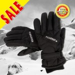 ROCKPOINT Unisex Adult Snow Ski Board Gloves V2 Thinsulate Insulation - Black