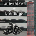 New 150cm VAXPOT Snowboard Combo and Snowboard Bindings Complete Set