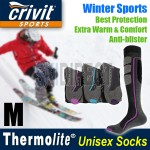 CRIVIT Thermolite Unisex Winter Sports Socks - Ski / Snowboarding / Hiking socks - 3 Contrast Colours
