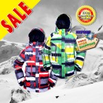 New RIDE Mens Snowboard Ski Jacket  - Red Pattern