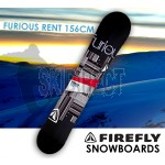 FIREFLY FURIOUS RENT SNOWBOARD 156cm Freestyle  Light Weight All-mountain All-terrain