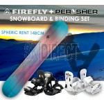FIREFLY Snowboard 148cm & PERYSHER Bindings Set - SPHERIC RENT SNOWBOARD