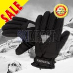 ROCKPOINT Kids Youth Unisex Reflective Snow Ski Board Gloves Thinsulate Insulation - Black