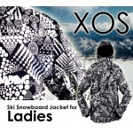 New XOS Womens Ski Snowboard Jacket - [ Absolute Black and White Version ]